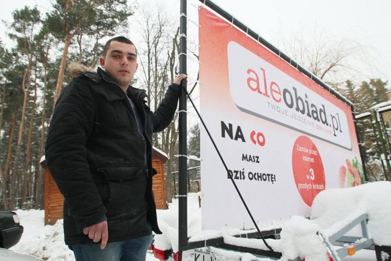 Łukasz Pomiankowski, założyciel kieleckiego portalu: aleobiad.pl deklaruje, że z każdym miesiącem można wybierać wśród karty dań większej liczby restauracji