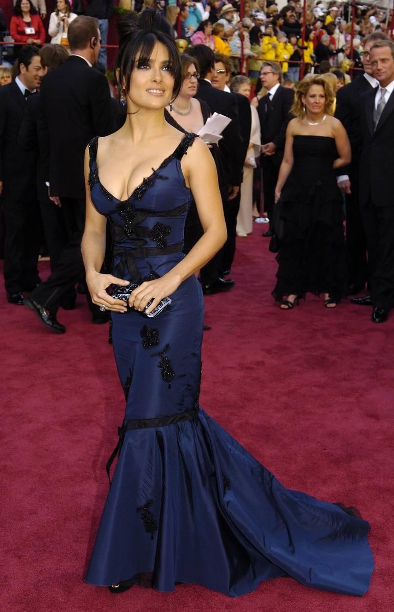 Salma Hayek na 77. gali wręczenia Oscarów w 2005 r.