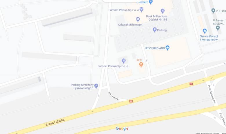 Do zdarzenia doszło w okolicach wyjazdu ze stacji benzynowej na ul. Łyskowskiego