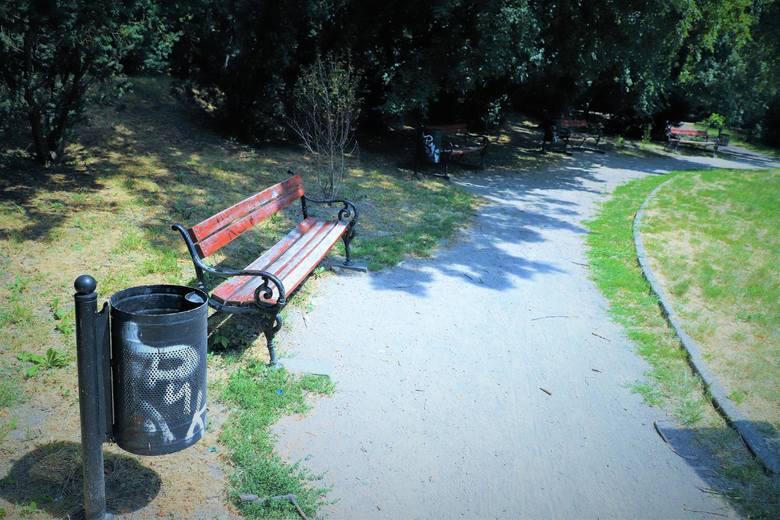 Graffiti na ławkach, koszach na śmieci, mostkach, a nawet drzewach w Brzegu. Miasto wyznaczyło 1000 złotych nagrody dla osoby, która wskaże wandali.