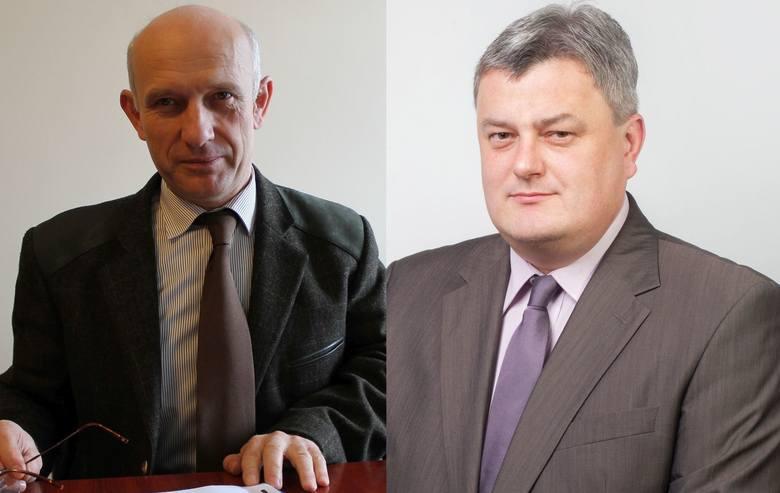Kandydaci na burmistrza Praszki: Jarosław Tkaczyński z PO (z lewej) i Zbigniew Kitajgrodzki z PiS.