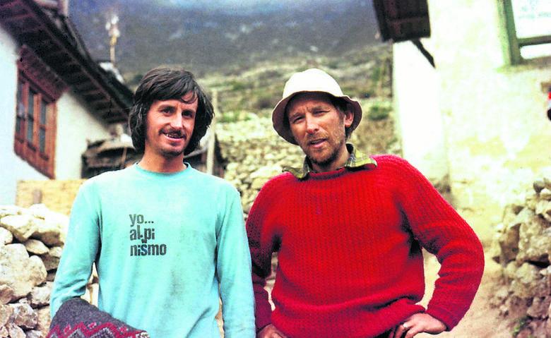 Marian Sajnog z Martinem Zabaletą, pierwszym hiszpańskim zdobywcą Everestu
