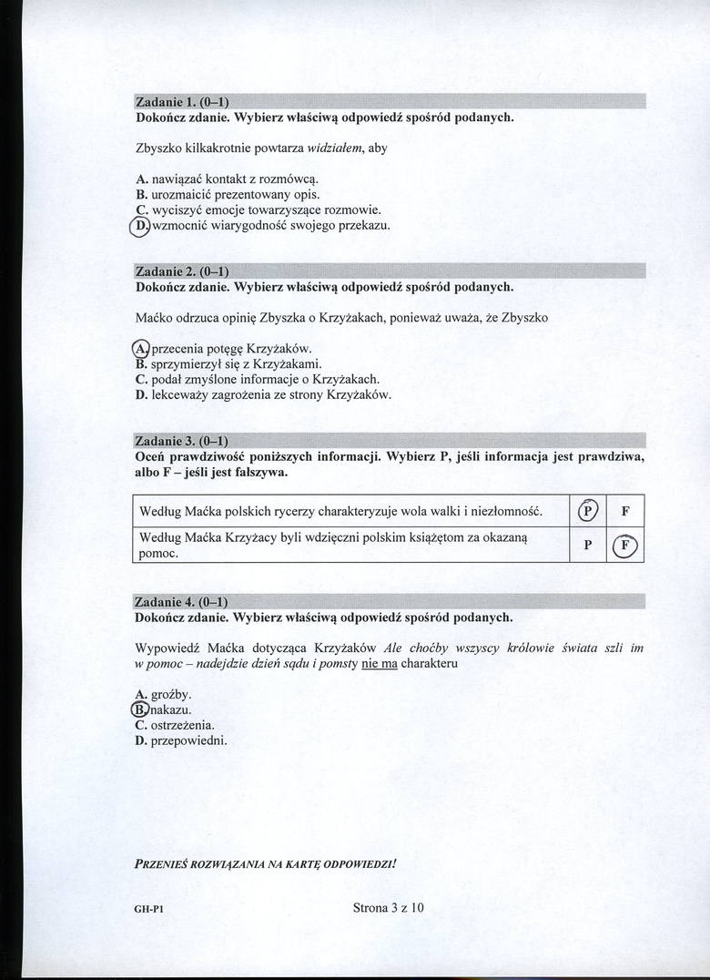 Egzamin gimnazjalny 2016: POLSKI: Mamy ODPOWIEDZI! ARKUSZE CKE, ZADANIA, PYTANIA