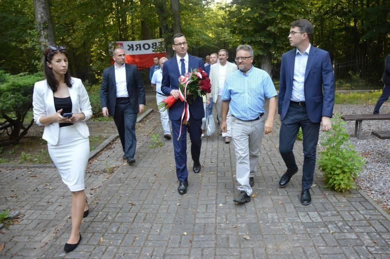 Premier Mateusz Morawiecki w Krępie Kaszubskiej, 25 sierpnia 2019 r.