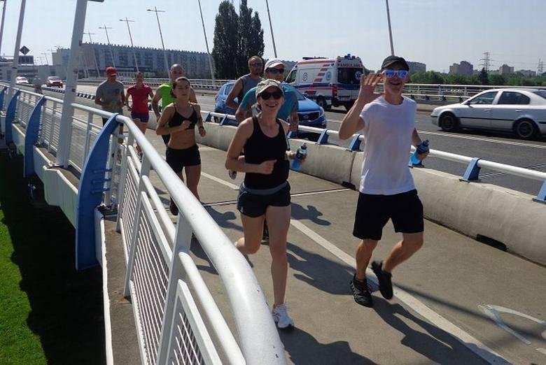 Trening przed rzeszowskim maratonem