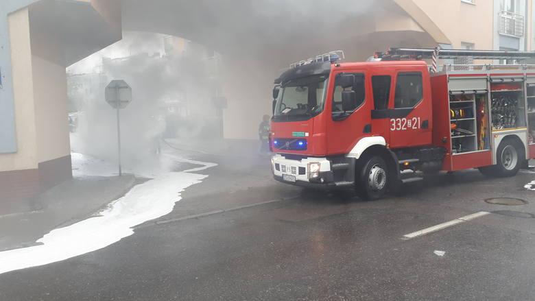 We wtorek około godz. 11.00 przy ulicy Konstytucji 3 Maja w Koszalinie spłonął samochód marki audi. W wyniku zdarzenia nikt nie ucierpiał, ale auto niemal