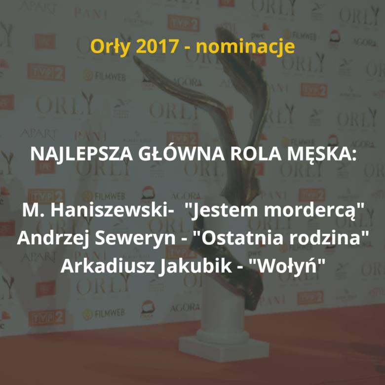 Znamy już nominacje do tegorocznych Orłów, czyli nagród Polskiej Akademii Filmowej. Film rekordzista otrzymał aż 14 nominacji w różnych kategoriach!