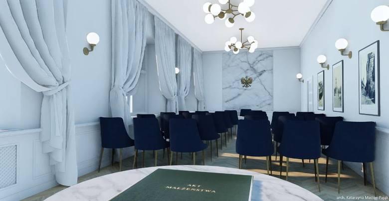 Sala ślubów w Wadwicach jest w remocnie. Na wizualizacjach pokazano jak będzie wyglądać