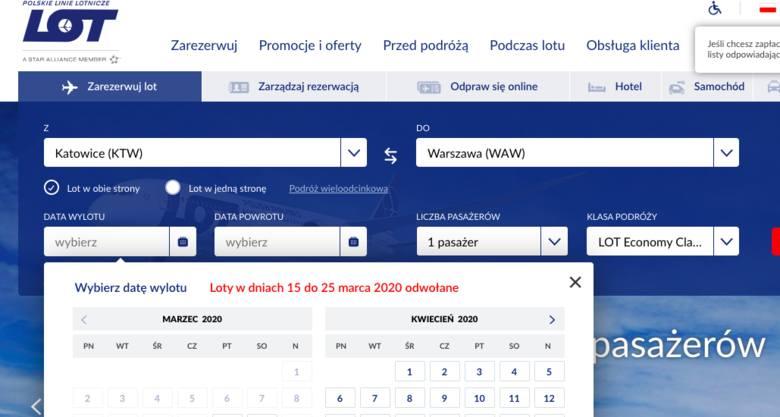 Koronawirus. PLL LOT zawiesza wszystkie loty, międzynarodowe i krajowe, od 15 do 25 marca 2020 z Polski i Węgier. Jak anulować rezerwację?
