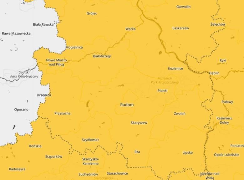 Uwaga! Ostrzeżenia meteorologiczne dla całego regionu radomskiego. Mogą wystąpić gwałtowne burze z gradem