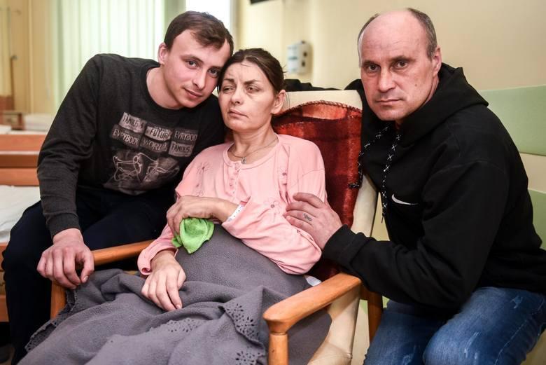 Oksana z rodziną