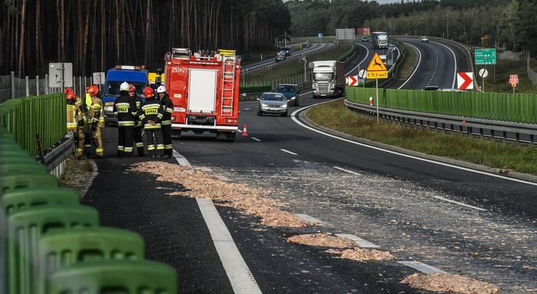 W piątek rano strażacy z Bydgoszczy oraz z OSP Brzoza zostali wysłani do nietypowego zgłoszenia. Na węźle w Stryszku pod Bydgoszczą (DK 10 i DK 25) z