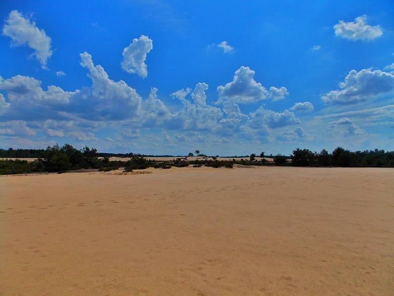 Może burze piaskowe są tutaj słabsze niż te saharyjskie... Może nie spotkamy tam karawany wielbłądów i nie ujrzymy fatamorgany... Ale przy odrobinie