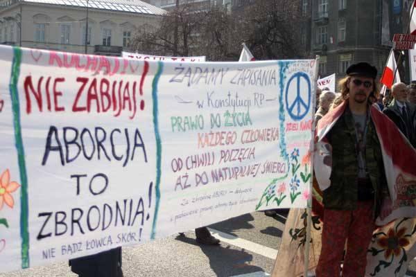 Marsz przeciwko aborcji