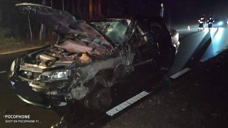 W sobotę, po godz. 18, na drodze krajowej nr 65 relacji Knyszyn - Mońki do szło do wypadku.