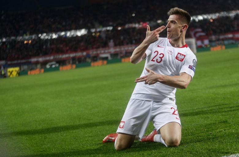38. Krzysztof Piątek - 3 goleNajlepszy polski strzelec eliminacji do Mistrzostw Europy uzbierał zaledwie 3 gole. Jego trafienia były jednak kluczowe,