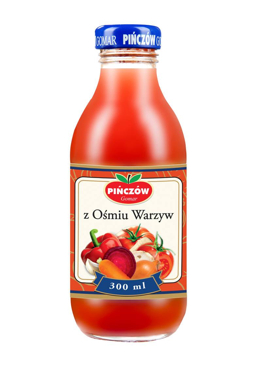 Nasze Dobre Świętokrzyskie 2015. Prezentacja produktów i usług Sok z ośmiu warzyw Sok z ośmiu warzyw Gomar Pińczów toprodukt z kategoii Produkty spożywcze.