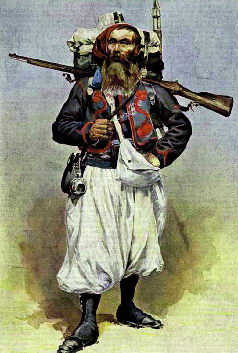 Żuaw francuski, druga połowa XIX w.