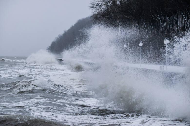 Silny wiatr na Pomorzui