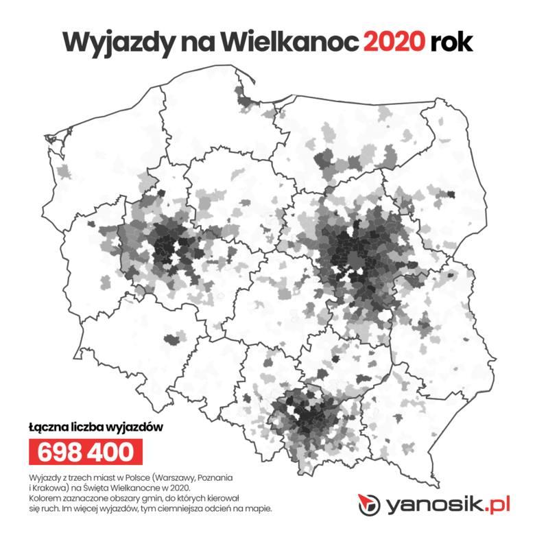 Wielkanoc 2020 - czy Polacy zostali w domach? Okazuje się, że tak. Ruch na polskich drogach zmalał aż o blisko 75 proc.