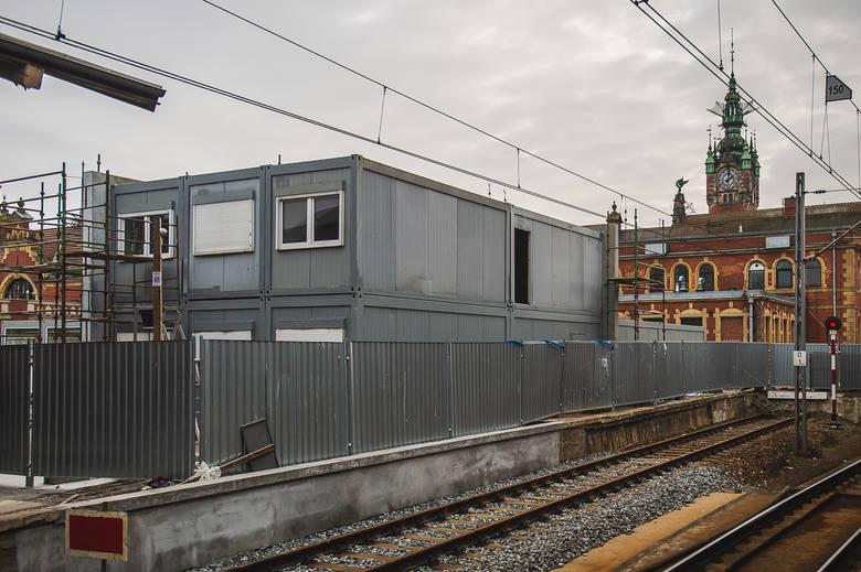 Zastępczy dworzec Gdańsk Główny powstaje obok właściwego gmachu