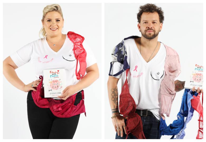 Gwiazdy i influencerki wspierają akcję reCYClingu i promują samobadanie piersi jako profilaktykę raka piersi.Elżbieta Romanowska, Michał PirógZobacz