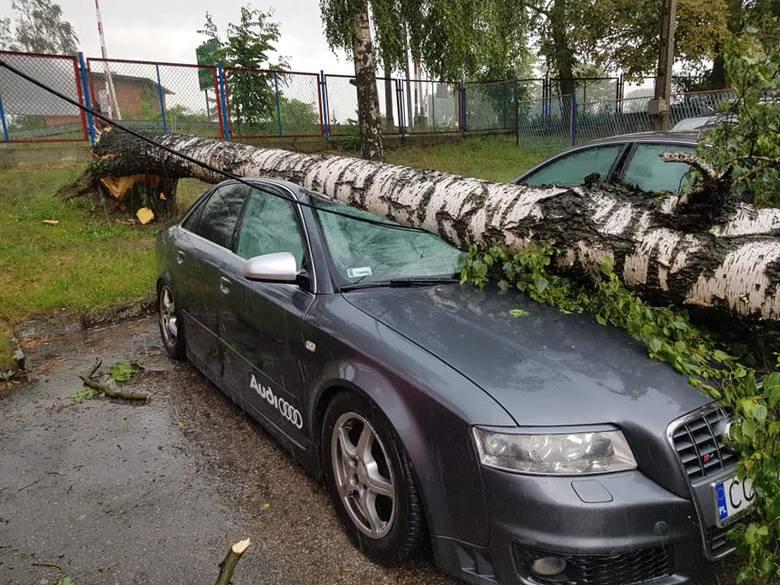 Czwartkowa burza i deszcz najwięcej szkód wyrządziła w gminie Unisław i Kijewo Królewskie. W czwartek od godz. 14 do 18 strażacy odebrali kilkadziesiąt
