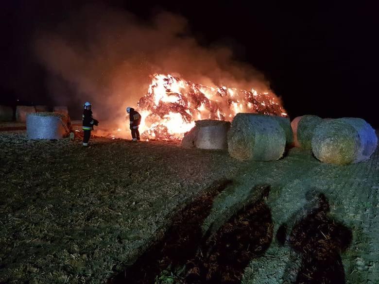 Tym razem spłonął stóg siana w miejscowości Bachorce. To już kolejny taki pożar w gminie Kruszwica.Nie tak dawno strażacy brali udział w podobnej akcji