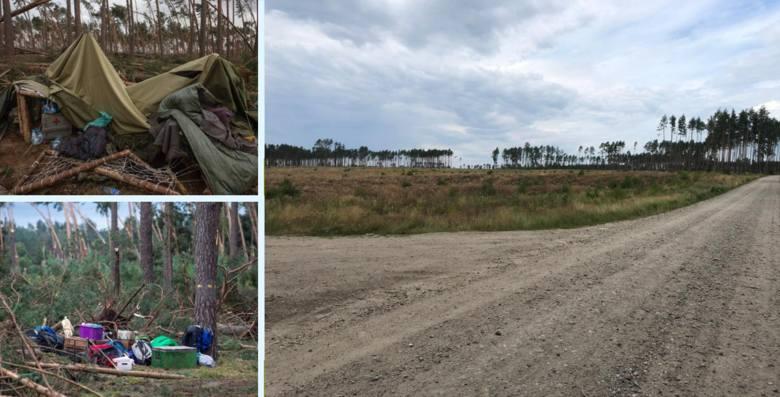 Kiedyś rósł to gęsty las, dziś puste pola przypominają o tragedii. Podczas obozu harcerskiego zginęły dwie nastoletnie harcerki. Namiot, w którym spały,