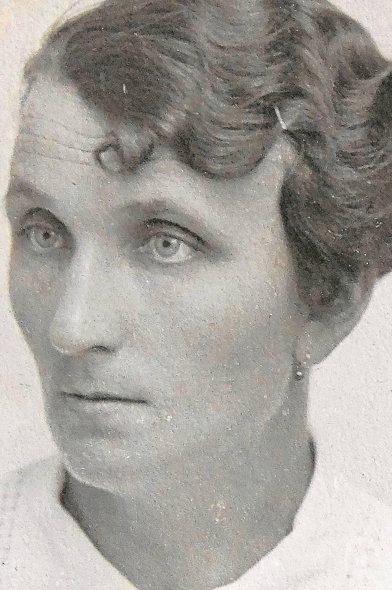Maria Bukowska, żona Leona. Zdjęcie powojenne.