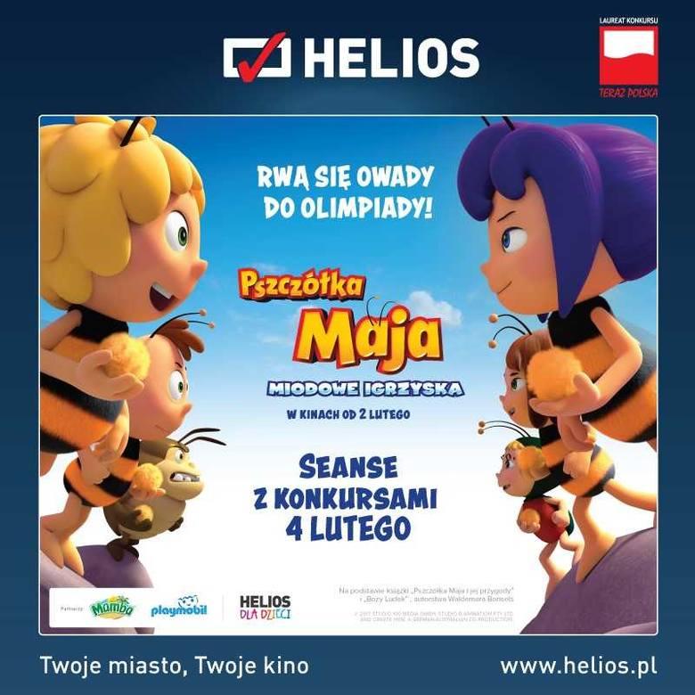 """W niedzielę bydgoski """"Helios"""" zaprasza dzieci na wyjątkowe seanse filmu """"Pszczółka Maja: Miodowe igrzyska"""". Będą też konkursy z nagrodami!"""