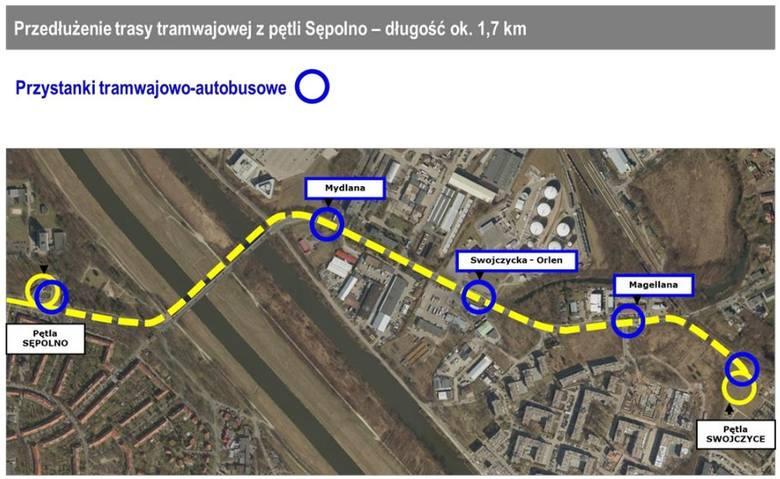 Tak będzie wyglądała trasa tramwaju na Swojczyce (ZOBACZ)