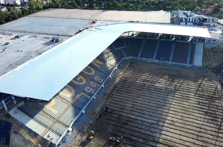 Stadion Pogoni Szczecin - stan na pierwszy weekend sierpnia.