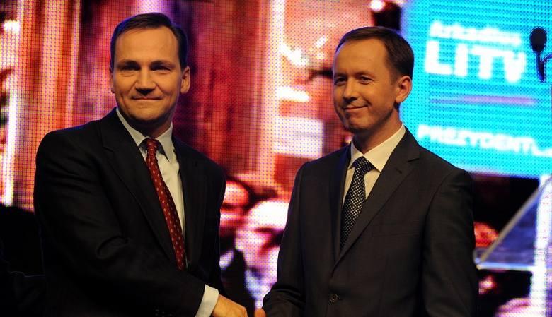 Minister obrony Radosław Sikorski gościł dziś na konwencji wyborczej PO.