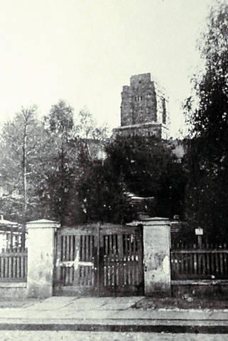Dojście do Wieży Bismarcka, wtedy już Wolności, od strony ul. Toruńskiej, 1925 rok