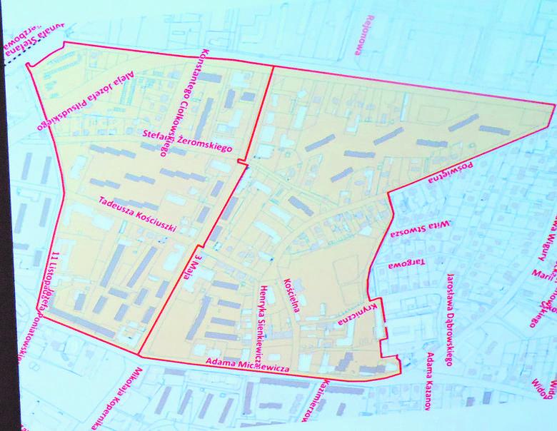 Centrum miasta zostało uznane za obszar zdegradowany