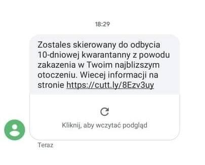 Fałszywy SMS.
