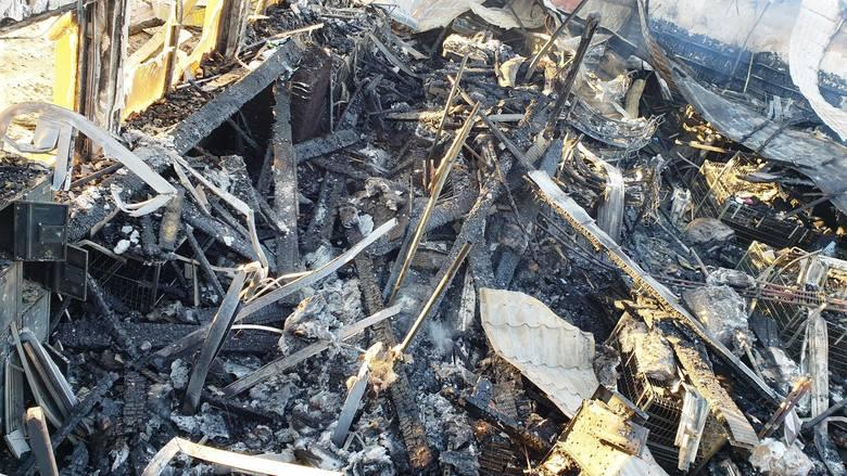 Rajgród. Po wielkim pożarze z Biedronki zostały zgliszcza (zdjęcia)