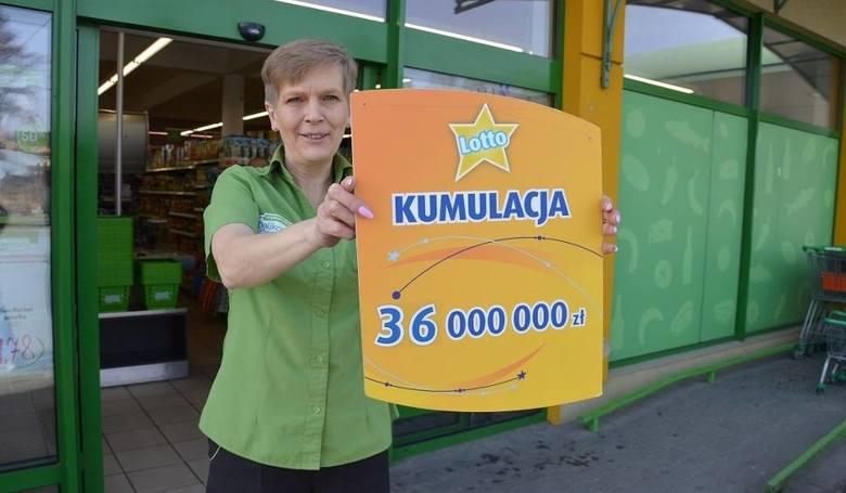 Skrzyszów (powiat tarnowski). Wygrana 36 726 210, 20 zł padła 16 marca 2017 roku.To najwyższa wygrana w historii Lotto. Szczęśliwe liczby to: 9, 10,