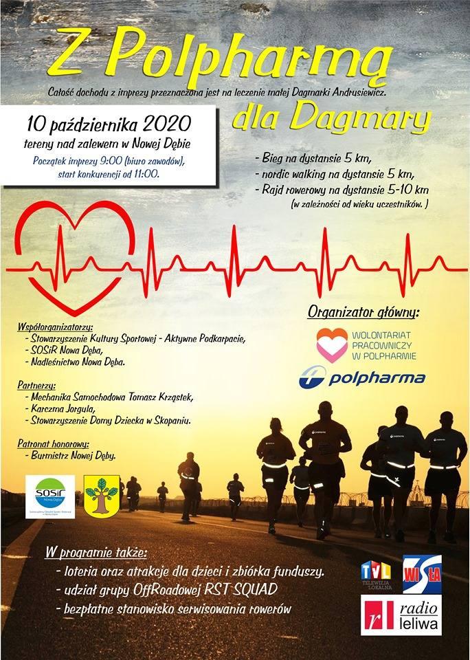 Biegiem, marszem, rowerem na pomoc dwuletniej Dagmarce Andrusiewicz z Nowej Dęby. Zapisz się, jeszcze zdążysz pomóc!