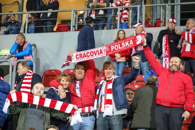 Kibice Cracovii na meczu z Jagiellonią