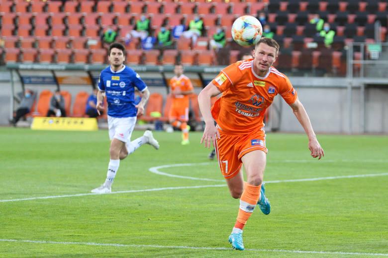 Artem Putiwcew był autorem pierwszego gola dla Bruk-Betu Termaliki w meczu z Olimpią Grudziądz