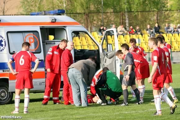Bartosz Madeja mimo kontuzji wrócił na boisko.