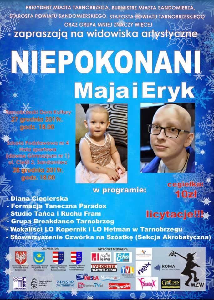 Pomóż Erykowi i Mai. Koncert i licytacje w piątek w Tarnobrzegu, w sobotę w Sandomierzu