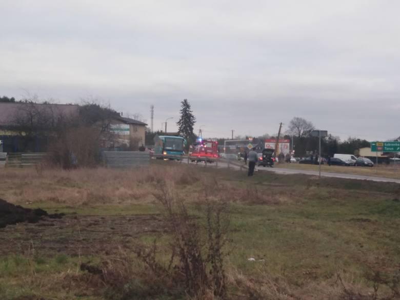 Wypadek w Złewsi Wielkiej pod Toruniem