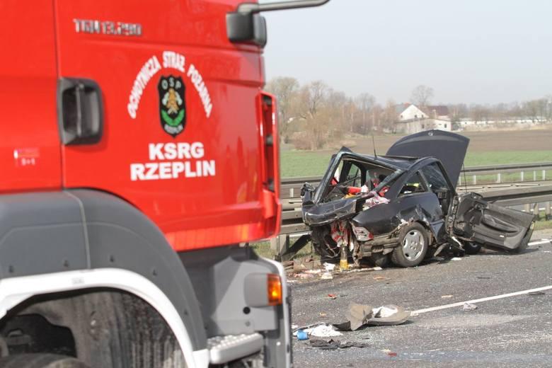 Wypadek na autostradzie A4 w rejonie punktu poboru opłat pod Wrocławiem