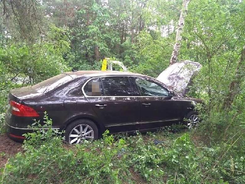 Na szczęście kierowcy nic się nie stało