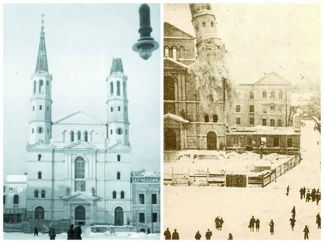 Kościół po wyburzeniu strzelistych wież
