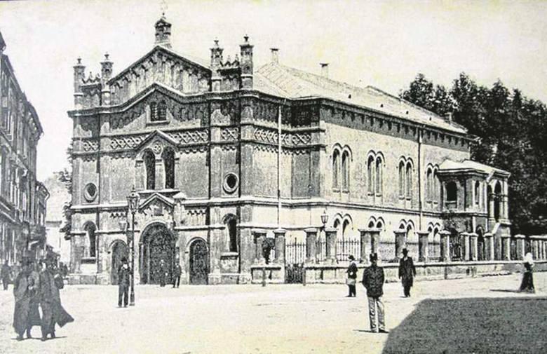 Synagoga Tempel na krakowskim Kazimierzu. Rok 1907. Była jednym z centrów europejskiego ruchu syjonistycznego. Rabinem w niej był Ozjasz Thon.