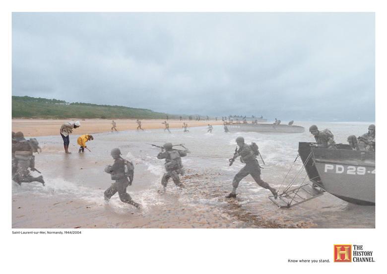 Normandia, Saint-Laurent-sur-Mer: 1944/2004Saint-Laurent-sur-Mer to z pozoru zwykła, nadmorska, francuska miejscowość. Wyróżnia ją jeden fakt - jest